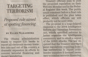 Front page of 9/27/2010 Washington Post