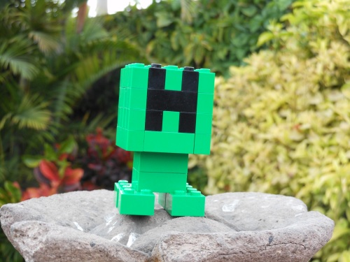 Creeper from Minecraft made of Lego