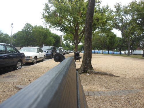Park bench at the National Mall