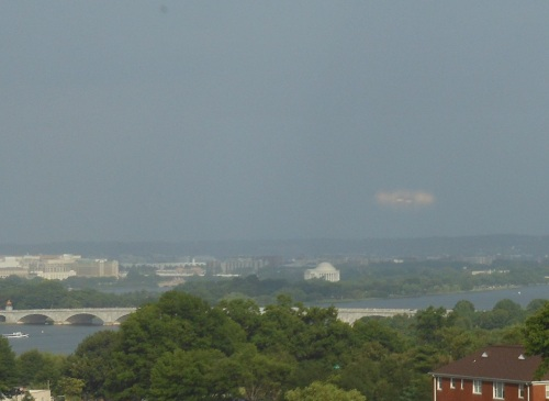 Odd object over Jefferson Memorial